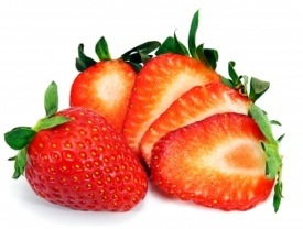 strawberry with sliced strawberries